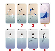 Cute Animal Transparent Back Case Cover for iPhone 6/6S(Assorted Colors)