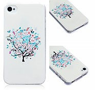 Tree Pattern TPU Soft Case for iPhone4/4S
