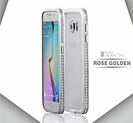 Protective Metal Bumper Frame with Diamond Cover for Samsung Galaxy S6/S6 Edge (Assorted Colors)