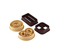 Circle Heart Square Retangle Shaped Cookie Cutter Stampers Set of 4 DIY Bakery Pastry Mold Set