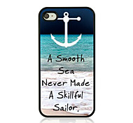 Sea Wave Leather Vein Pattern Hard Case for iPhone 4/4S
