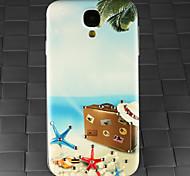 сверла и летом пляж чемодан шаблон шт задняя крышка чехол для Samsung Galaxy S4 / 9500