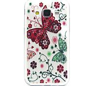 rote Schmetterling Muster TPU Acryl weiche Tasche für Samsung Galaxy Kern prime G360 / galaxy grand prime G530