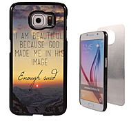 I am Beautiful Design Aluminum High Quality Case for Samsung Galaxy S6 Edge G925F