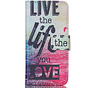 Live the Life You Love PU Leather Full Body Case with Screen Protector And Stand for iPod Touch 5
