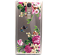 Butterfly Flower Pattern TPU Acrylic Soft Case for LG Magna H502/ LG Leon H340N