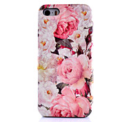 Peony  Flowers Pattern PU Leather Phone Case For iPhone 5C