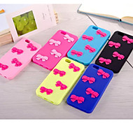 Stereo Pink Bow Silicone Protective Cover Package for iPhone 5/5S (Assorted Colors)