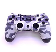 Protective ABS Case  + Screwdriver Whole Set for PS4 Wireless Game Controller - Grey Camouflage