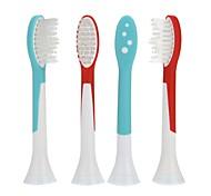 4pcs um conjunto genérico de substituição sonora escova de dentes elétrica cabeças de cerdas macias p-hx6044 para philips