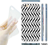 MAYCARI® Black and White Wavy Lines Pattern TPU Soft Transparent Back Case for iPhone 6/6S