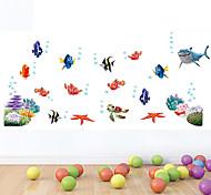 стены стикеры стены наклейки стиле морского дна мира наклейки цвет мультфильм ПВХ стены
