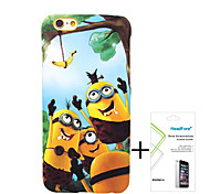 Minions Polishing Material Free with Headfore Tempered Glass Screen Protector for iPhone 6 Plus