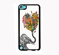 Elephant and Flower Design Aluminum High Quality Case for iPod Touch 5