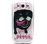Zunge Hund Muster TPU Acryl weiche Tasche für Samsung-Galaxie S3 / S4-Galaxie / galaxy s5 / galaxy S6 / S6 Galaxie Rand