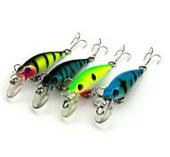 """4pcs Stück kleiner Fisch Angelköder kleiner Fisch g/Unze mm/2-5/8"""" Zoll,Fester Kunststoff Seefischerei Fischen im Süßwasser Spinnfischen"""