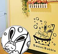 multifonction pvc bain lapin stickers décoratifs