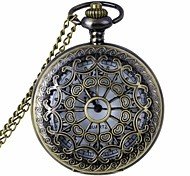 Fashion Hollow Out Carving Vintage Alloy Quartz Analog Pocket Watch With Chains (1 x LR626)