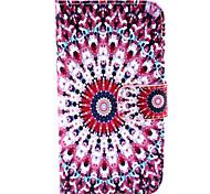 Purple Diamond Pattern PU Leather TPU Full Body Case with Card Holder for Samsung Galaxy Alpha/Grand NEO /Core Plus