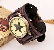 European Style Genuine Leather Foreign Trade Hot Sales Bracelet Watch (Brown,Black)(1Pc)