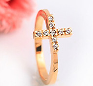 New Arrival Fashional Rhinestone Cross Ring