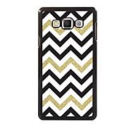 White Black Golden Stripe Design Aluminum High Quality Case for Samsung Galaxy A3/A5/A7/A8