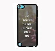 Give Design Aluminum High Quality Case for iPod Touch 5