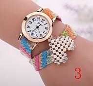 2015  New Fashion  Women Watches Gold Wristwatch Ladies Quartz Watches Geneva   Flower  Bracelet XR1271