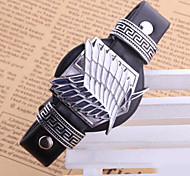 Unisex Young Fashion Jewelry Punk Alloy Cosplay Attack on Titan Scout Regiment Freedom Wings Leather Bracelets Bangles