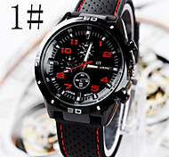 Men's Watches Car Line Fashion  Silicone Strap Sport  Watch Wrist Watch Cool Watch Unique Watch
