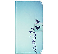 Smile  Pattern PU Leather Phone Case For Nokia N640
