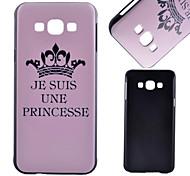 rosa padrão coroa material de pc caso de telefone celular para Samsung Galaxy a8