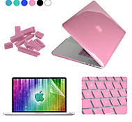 ENKAY 4 in 1 Crystal Protective Case + Screen Protector + Keyboard Film + Anti-dust Plugs for MacBook Pro Retina 13.3""