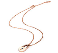 Lock of Love Stainless Steel Pendant Necklaces