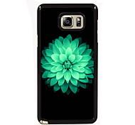 projeto bonito da flor fina de metal de volta caso para Samsung Galaxy nota 3 / nota 4 / nota 5 / nota 5 borda