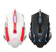 Comanro CM719 3500 DPI LED Laser Gaming Mouse USB Wired Gamer Mice Computer Pro for PC with Omron Switch 6 Button