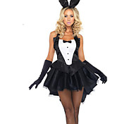 New! Halloween Costumes Sexy Bunny Rabbitgirl Costume Cosplay Suit Rabbit Ear Decorations, Gloves and Dress