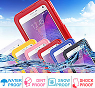 For Samsung Galaxy Note Waterproof / Transparent Case Full Body Case Solid Color PC Samsung Note 4 / Note 3 / Note 2
