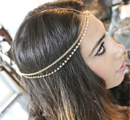 European Style Alloy Hair Chain(Gold,Silver)(1Pc)