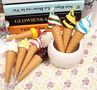 1pcs Pens Cartoon Cute Office Accessories Ice Cream Ballpen Stationery & Ice Cream Fridge Magnet(Random Color)