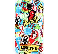 3d личность красный граффити рисунок шт задняя крышка чехол для Samsung Galaxy S4 / 9500