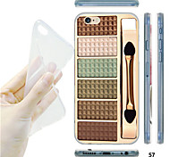 MAYCARI®Make-up Box Pattern TPU Soft Transparent Back Case for iPhone 6