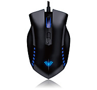 AULA MANUM USB Professional Wired Blue Light 2000DPI Gaming Optical Mouse Mice for Laptop PC