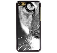 demi-design en aluminium du visage cas de haute qualité pour iPhone 5c