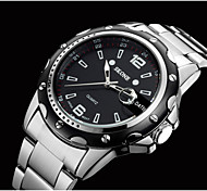 skong®brand homens de aço de moda de luxo relógio calendário relógio de quartzo relógio de pulso à prova d'água negócio 30atm