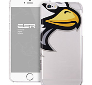 ESR® Mania Series Scratch-Resistant Perfect Fit Cute Cartoon Eagle Clear Hard Back PC Case for iPhone 6