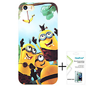 Minions Polishing Material Free with Headfore Tempered Glass Screen Protector for iPhone 5/5s