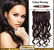 5 Clips Wavy Dark Auburn (#33) synthetic Hair Clip In Hair Extensions For Ladies more colors available