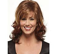 шапки цветовой гаммы высококачественных натуральных вьющиеся волосы синтетический парик с челкой стороны