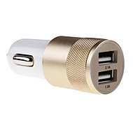 Universal Metal Material Car Charger for for iPhone 7 iPhone 6 iPhone 6 Plus Samsung Huawei Xiaomi and Other Mobie Phone